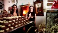 HD STOCK: Chocolate shop video