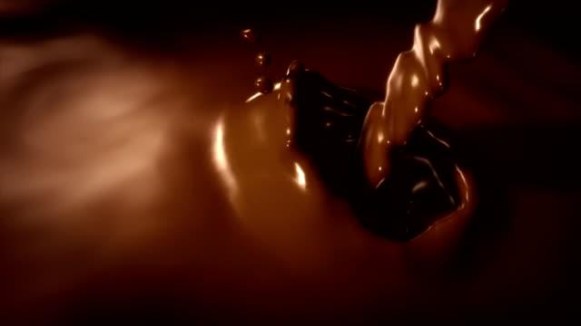 Chocolate splash slow motion video