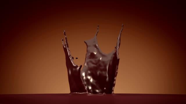 chocolate splash with alpha video
