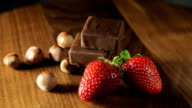 Chocolate, strawberries and nuts video