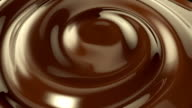 Chocolate whirlpool background video