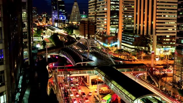 Chong Nonsi skywalk, Bangkok city video