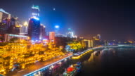 Chongqing, China urban cityscape at night. video