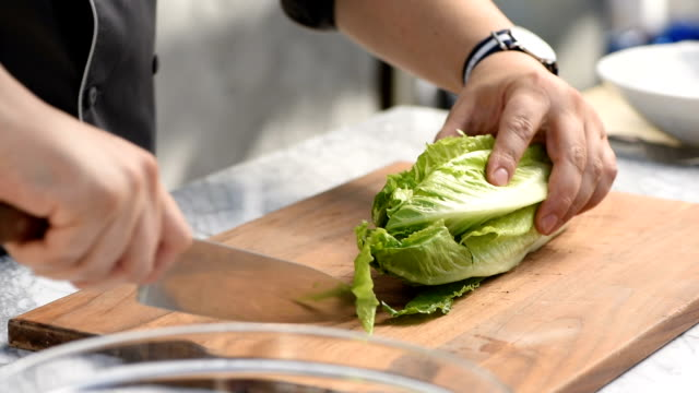 Chopping a Head of Lettuce video