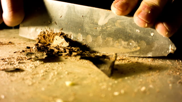 Chopping chocolate video