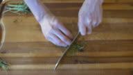 chopping herb video