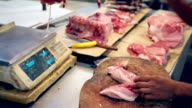 HD chopping meat at local Asian market video