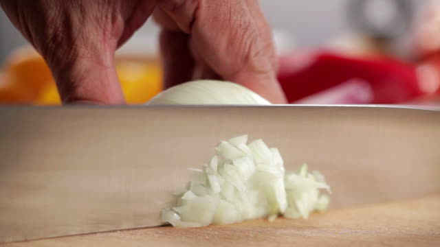 Chopping onion video