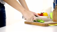 Chopping vegetables video