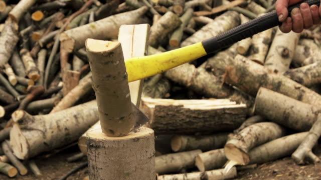 Chopping wood video