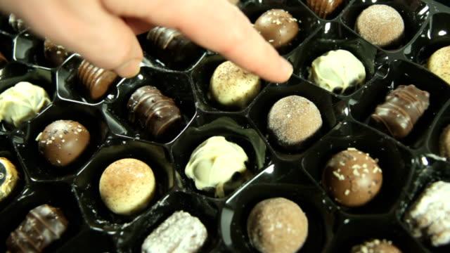 Chosing a Chocolate. HD video