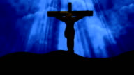 Christ on Cross Blue-Worship Loopable Background video