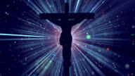 Christ on Cross Divine Blue-Worship Loopable Background video