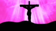 Christ on Cross Pink-Worship Loopable Background video