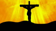 Christ on Cross Yellow-Worship Loopable Background video