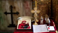 Christian altar with open bible video