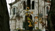 Christian Orthodox Church for an autumn tree branches video