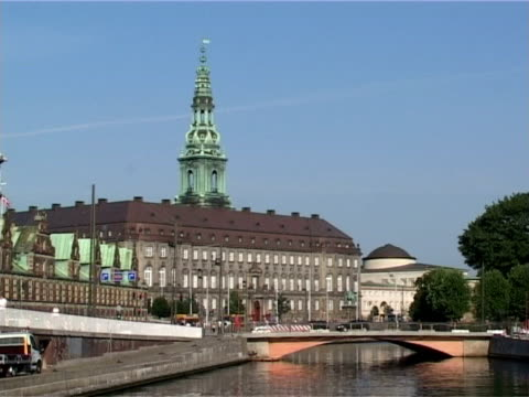 Christiansborg - The danish parliament in Copenhagen, Denmark video