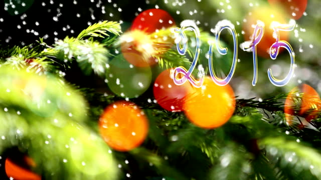 Christmas and New Year decoration. Text 2015. video