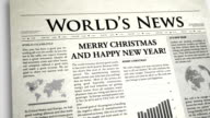 Christmas and New Year Newspaper video