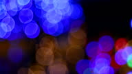 Christmas and New year season reflect bokeh of lighting as abstract background video