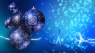 Christmas Background. Blue and Silver. Loopable video