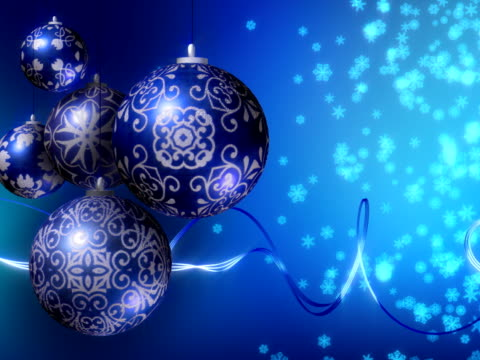 Christmas Background, Blue. Loopable. PAL. (HD, NTSC also available) video