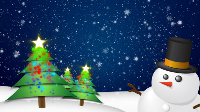 Christmas Background HD Blue video