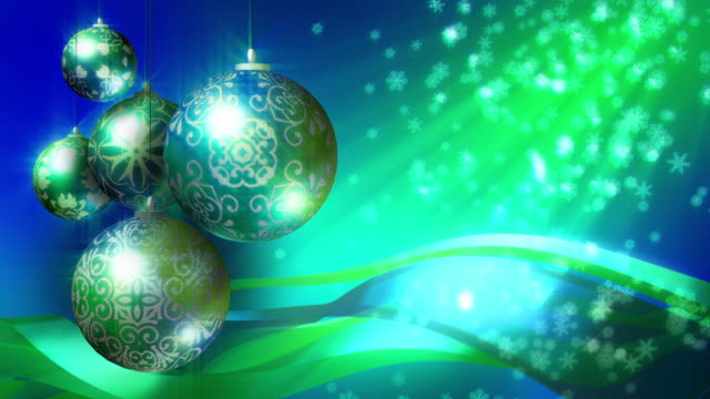 Christmas Background in blue and green. Loopable. video