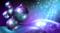 Christmas Background in purple and turquoise blue. Loopable. video