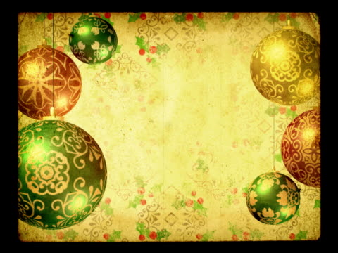 Christmas background. Old-fashioned grunge style. Loopable. video