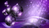 Christmas Background: purple and black. Loopable. video