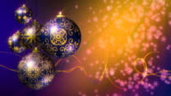 Christmas Background Purple, Gold. Loopable. video