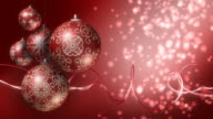 Christmas Background Red and Silver. Loopable video
