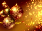 Christmas Background Red, Gold. Loopable. PAL. (HD, NTSC also available) video