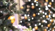 Christmas background with decorated tree video