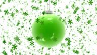 Christmas ball ornament and confetti video
