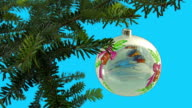 christmas ball with ornament + ALPHA video