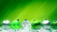 Christmas Balls. Green on green. video