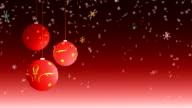 Christmas balls - loop video