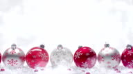 Christmas Balls. Red on white. video