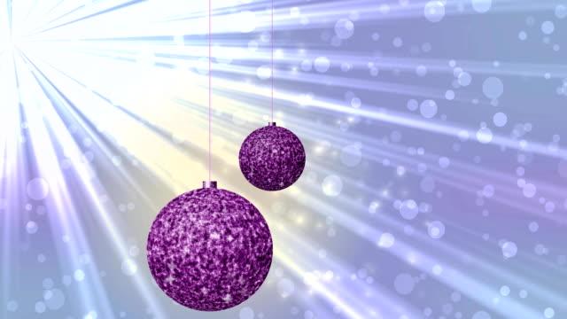 Christmas balls seamless loop video