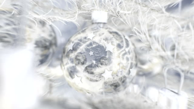 Christmas balls with nice white winter feel. video
