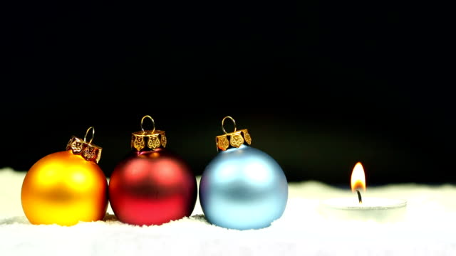Christmas Baubles with candle video