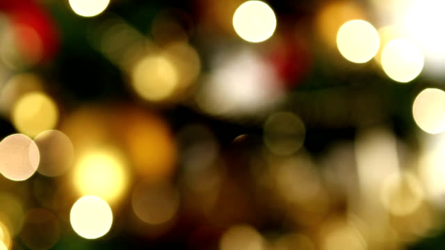 Christmas bokeh lights video