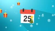 Christmas Calendar 1 to 25 Blue Infographics video