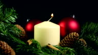 Christmas candle video