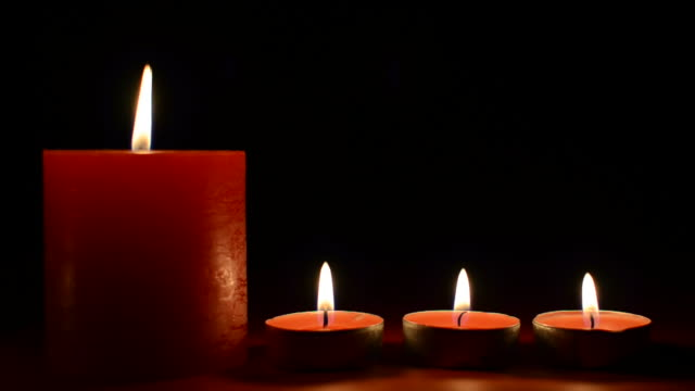Christmas candles background video