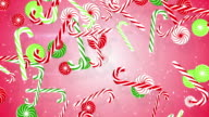 christmas candy canes loopable background video