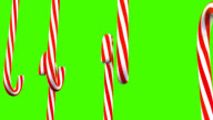 3D Christmas Candy Canes Spinning Around video
